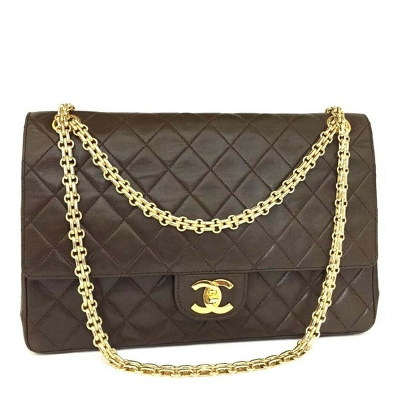 CHANEL Handbags - 💯 Auth Vintage CHANEL Double Flap 27 Lambskin